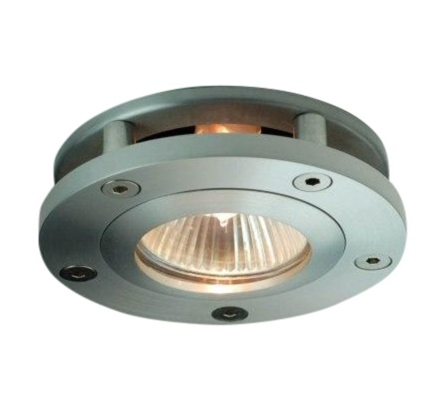 Design inbouwspot Silver penta aluminium