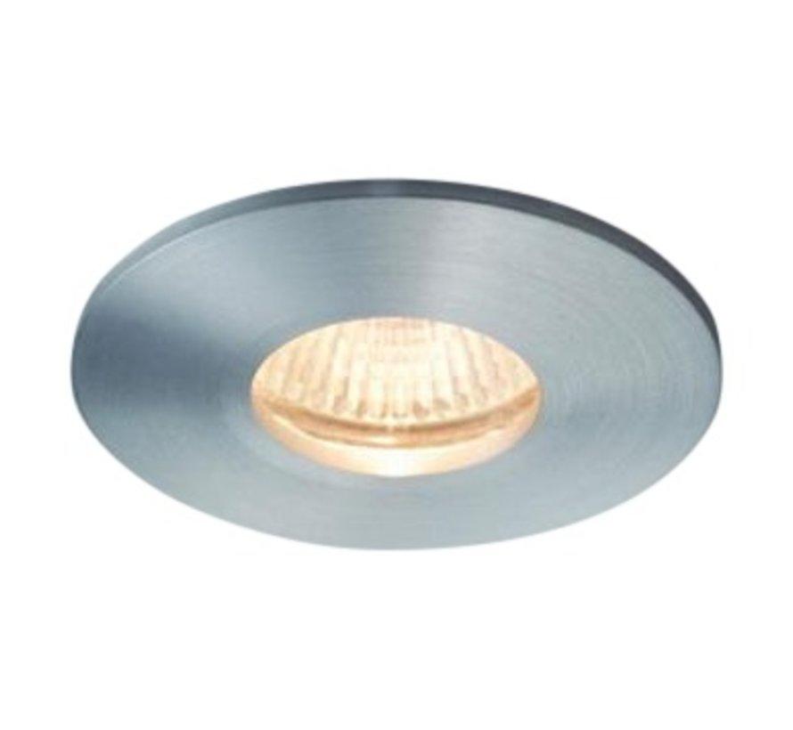 Inbouwspot / badkamerlamp Minismooth IP65 alu-mat