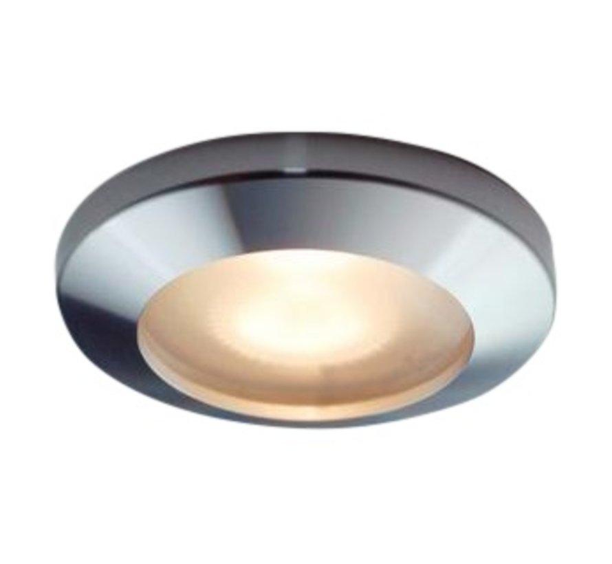 Inbouwspot / badkamerlamp Smooth IP65 alu-mat kantelbaar
