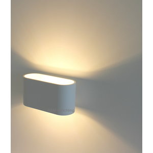 R&M Line Wall lamp Oval white G9 230v