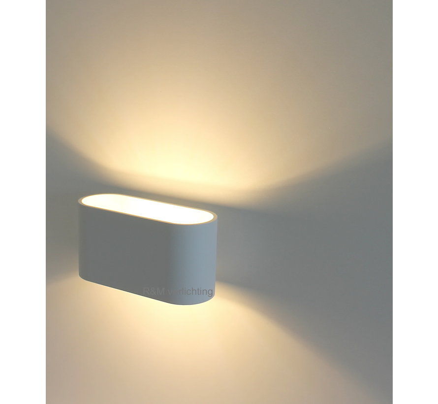 Wandlamp Oval wit G9 230v