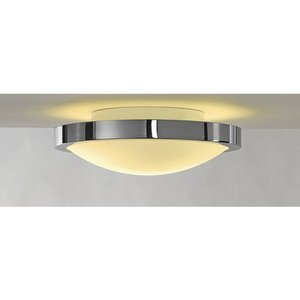 SLV Ceiling lamp round Corona IP21 230v E27 chrome
