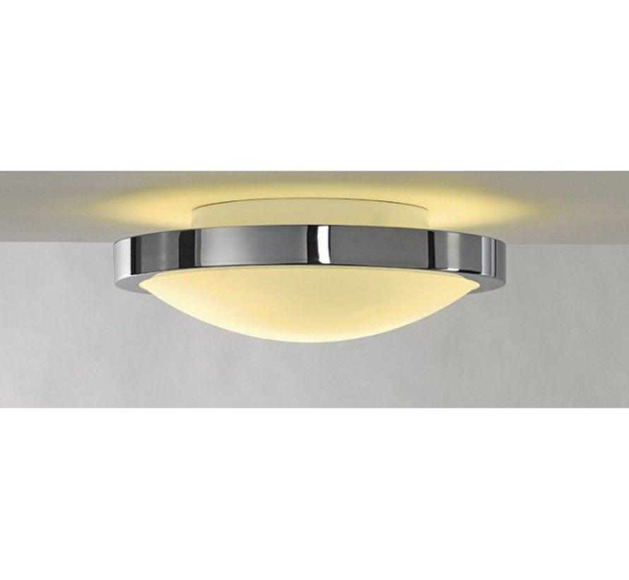 Plafondlamp rond Corona IP21 230v E27 chroom