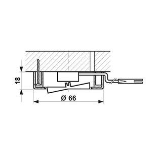 R&M Line Meubel inbouw en opbouw schakelaar AAN / UIT nikkel-zwart + 2M kabel