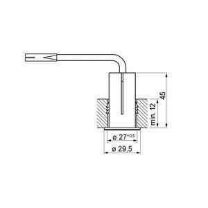 R&M Line Meubel inbouw schakelaar aan/uit D:29,5mm 230v nikkel-mat