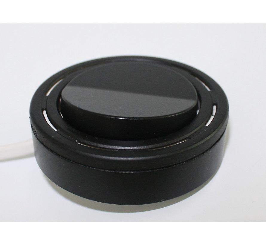 Meubel inbouw en opbouw schakelaar AAN / UIT zwart + 2M kabel