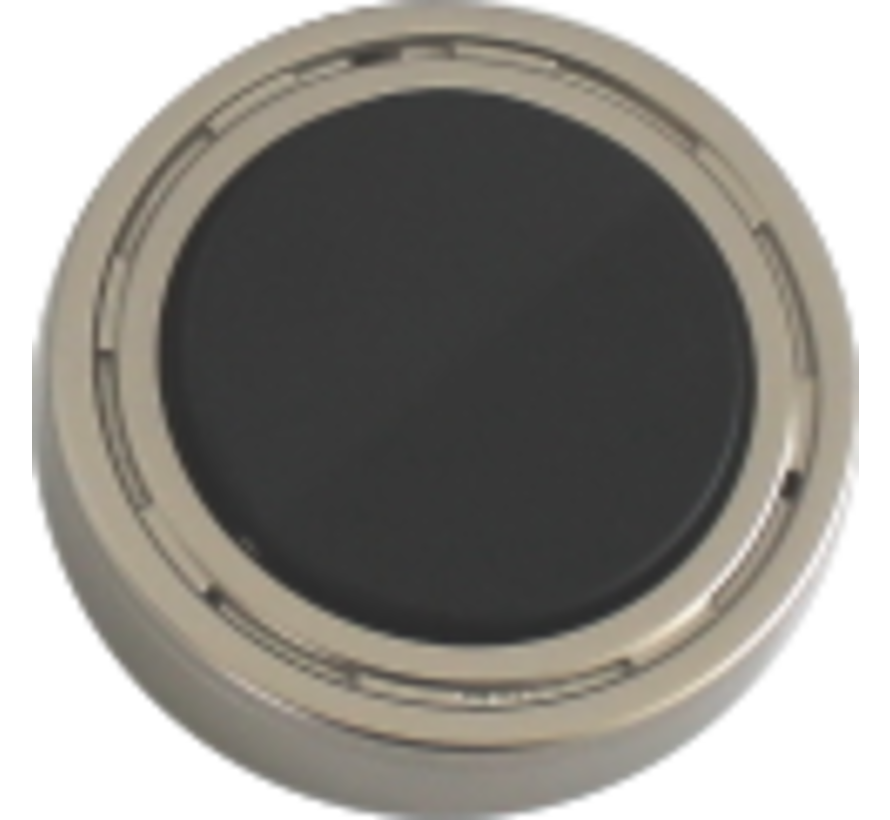 Meubel inbouw en opbouw schakelaar AAN / UIT nikkel-zwart + 2M kabel