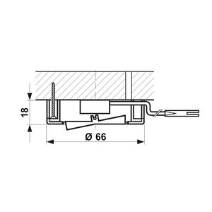 R&M Line Meubel inbouw en opbouw schakelaar AAN / UIT wit + 2M kabel