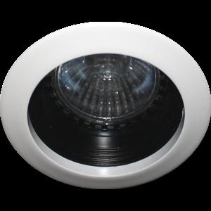 R&M Line Recessed downlight fix spl 400 12v/230v white