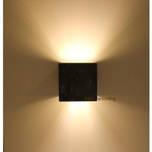 R&M Line Wall lamp Square black G9 230v