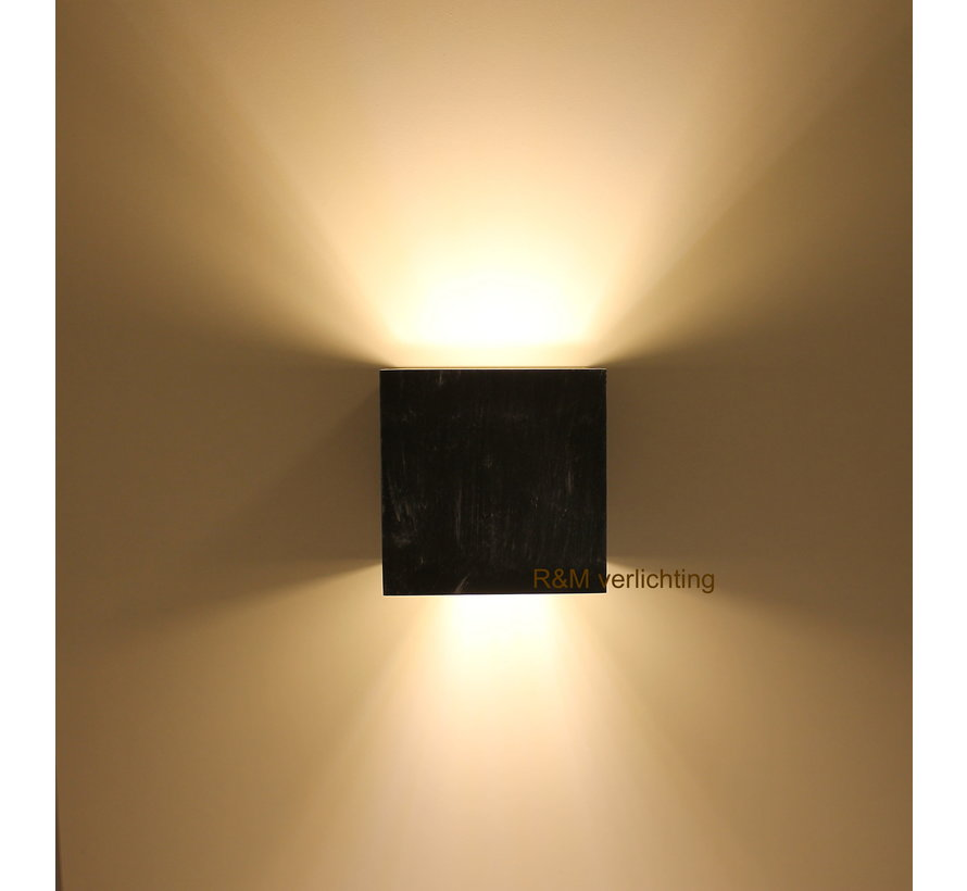 Wandlamp Square zwart G9 230v