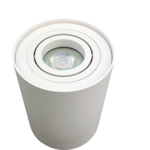 R&M Line Surface-mounted spotlight Obi1 Round GU10 white