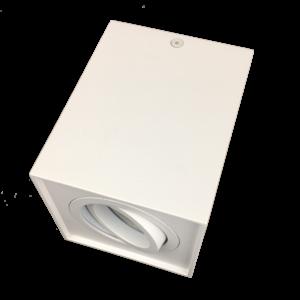 R&M Line Surface-mounted LED spotlight white Obi1 square GU10