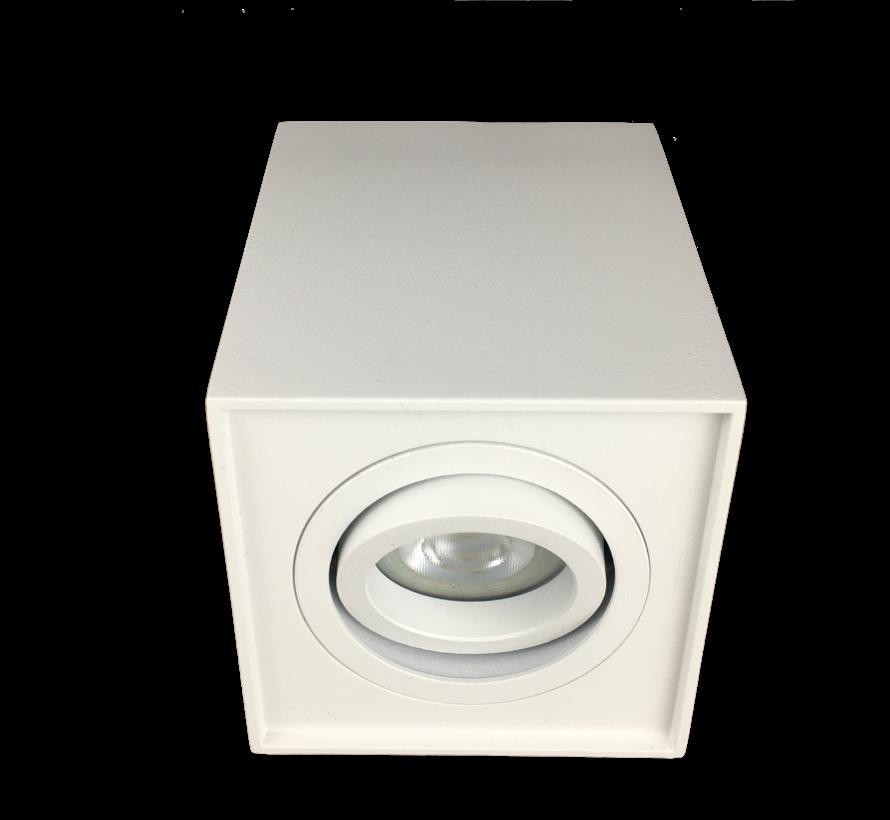 Surface-mounted LED spotlight white Obi1 square GU10