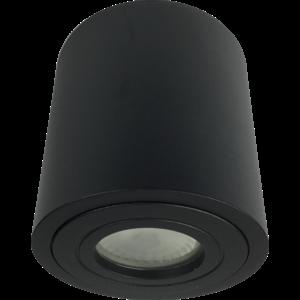 R&M Line Opbouwspot solo rond IP44 GU10 LED zwart