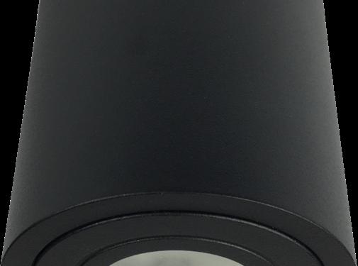 R&M Line Surface mounted spot IP44 LED black