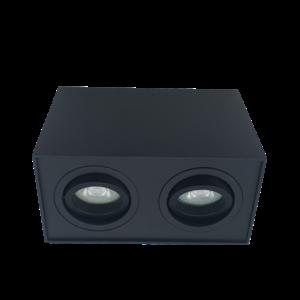 R&M Line Opbouwspot  dubbel obi2 LED GU10 zwart