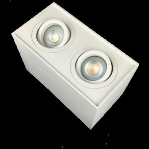 R&M Line Opbouwspot  dubbel Obi2 LED GU10 wit