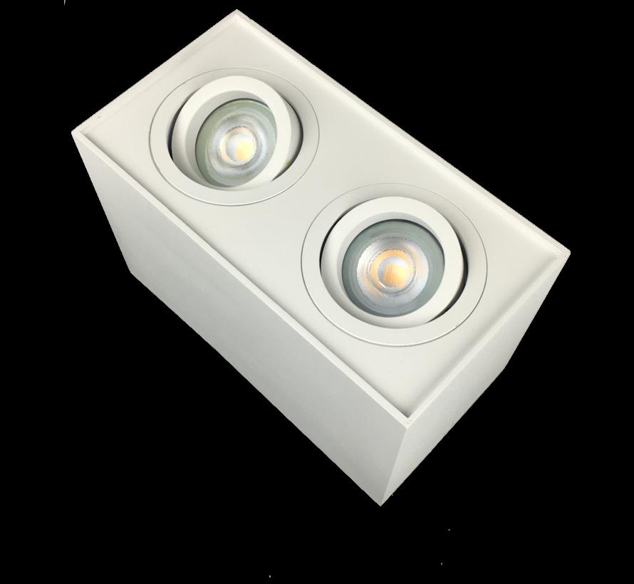 Surface-mounted LED downlight double Obi2 GU10 white