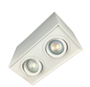 R&M Line Surface-mounted downlight double Obi2 white