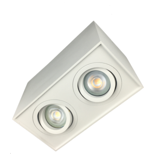 R&M Line Surface-mounted LED downlight double Obi2 GU10 white