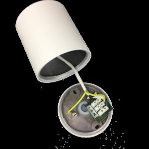 R&M Line Opbouwspot Solo rond IP44 GU10 LED wit