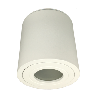 R&M Line Surface mounted downlight Solo round IP44 GU10 LED white