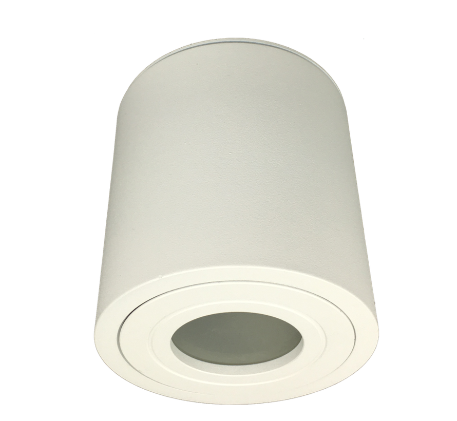 Surface mounted downlight Solo round IP44 GU10 LED white