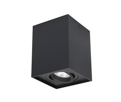 R&M Line Opbouwspot Obi1 Vierkant GU10 zwart