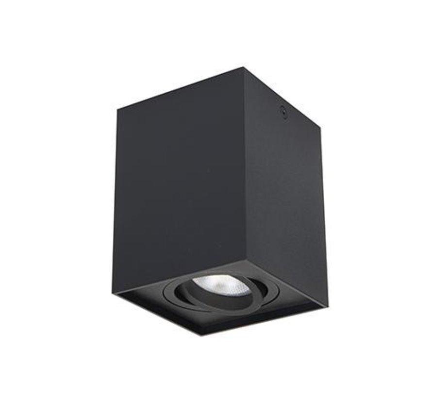 Surface-mounted spotlight Obi1 Square GU10 black