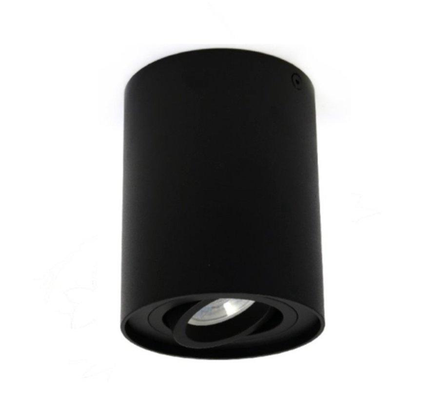 Surface-mounted spotlight Obi1 Round GU10 black