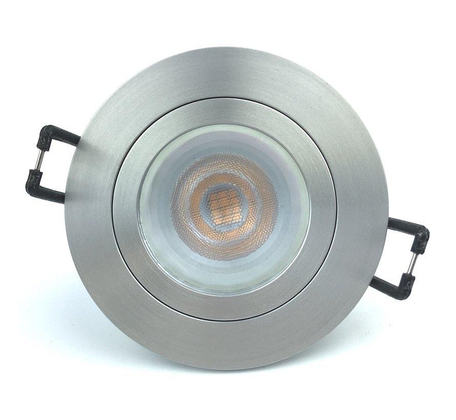 Inbouwspot FIX blade rond GU10 230v aluminium-mat