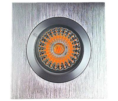 R&M Line Fix blade Q square recessed downlight GU10  aluminium