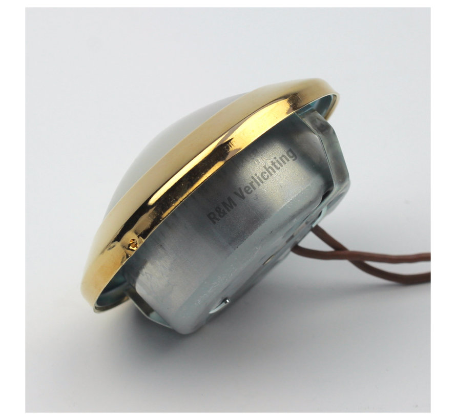 Cabinet downlight  Dome gold 12v  G4 14w eco halogen