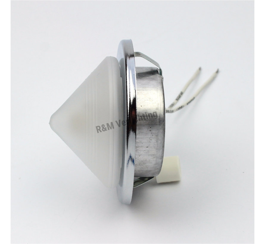 Furniture recessed spot Pyramid chrome  with glass and G4 14w eco bulb
