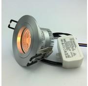 R&M Line LED downlight FIX-R silver 6W dim-to-warm
