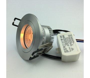 R&M Line Dim to warm LED inbouwspot alu 6W 3000-1800k IP65