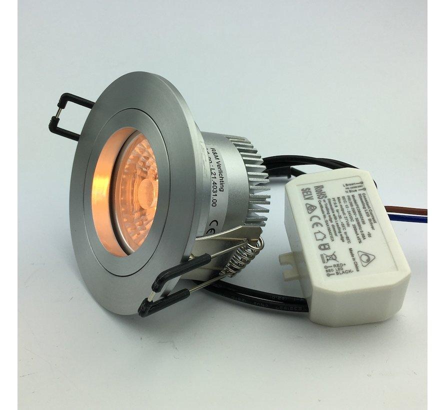 Dim to warm LED downlight 3000-1800 Kelvin