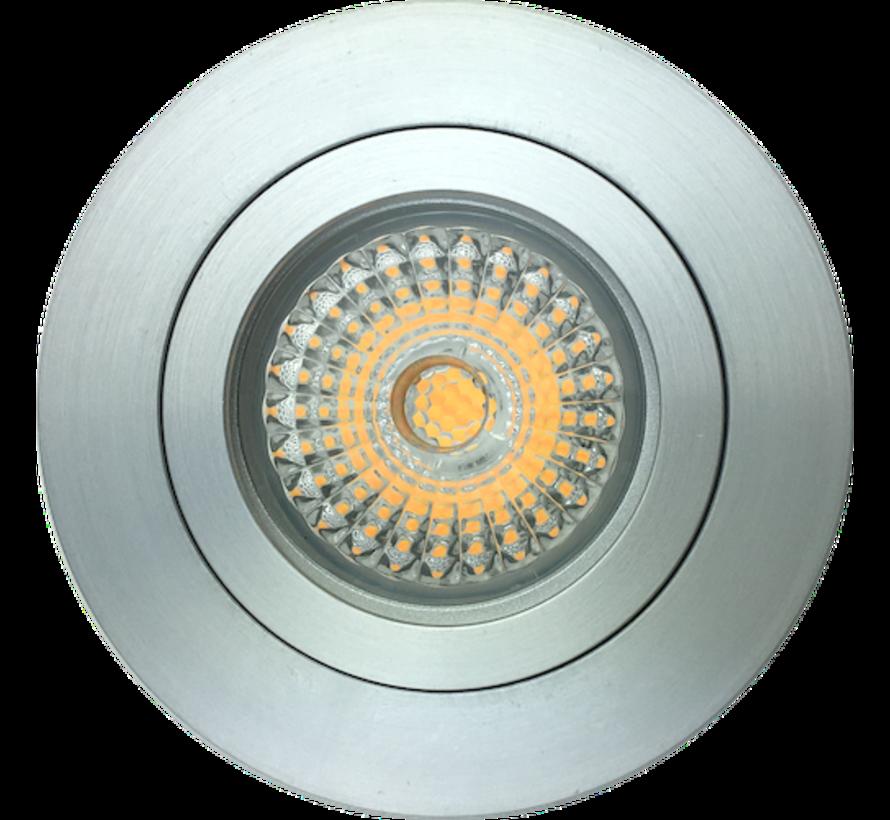 Dim to warm LED inbouwspot alu 6W IP65 3000-1800 kelvin extra warm
