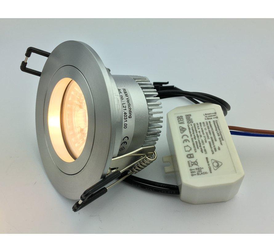 LED inbouwspot FIX-R alu 6W IP65 3000-1800 kelvin dim-to-warm