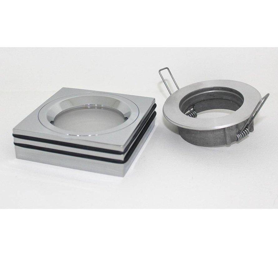 Inbouwspot / badkamerlamp Piston Q IP65 chroom 12v//230v