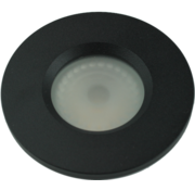 R&M Line Basic Flat fix recessed light IP54 GU10 230v black