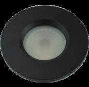 R&M Line Inbouwspot Flat fix IP54 GU10 230v zwart