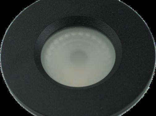 Inbouwspot Flat fix IP54 GU10 230v zwart
