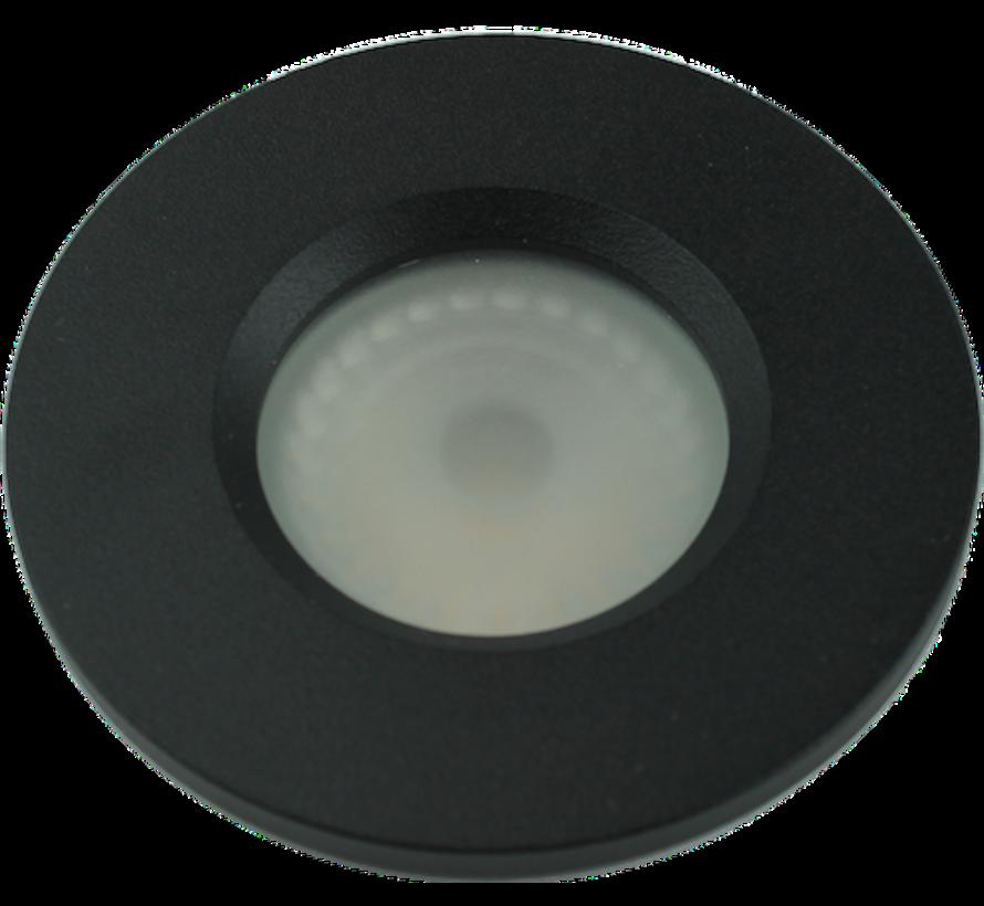 Badkamer inbouwspot Basic Flat fix IP54 GU10 230v zwart