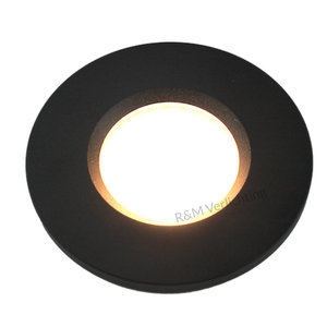 Basic Bathroom downlight Basic Flat fix IP54 GU10 230v wit  black