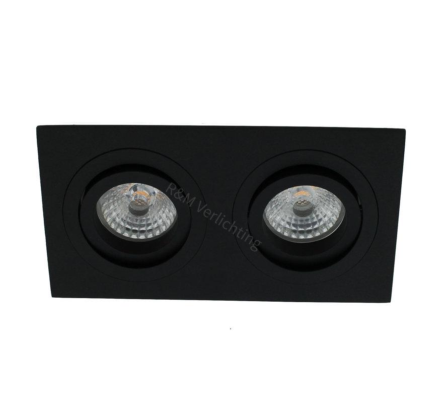 Inbouwspot 2 lichts Tilt Blade 2X50 GU10 zwart