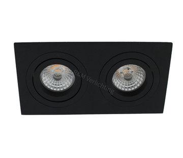 R&M Line Inbouwspot 2 lichts Tilt Blade 2X50 zwart