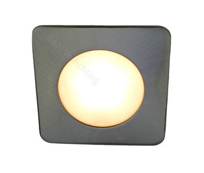R&M Line LED meubel inbouwspot vierkant 2.6w 12v DC 2700k warm wit