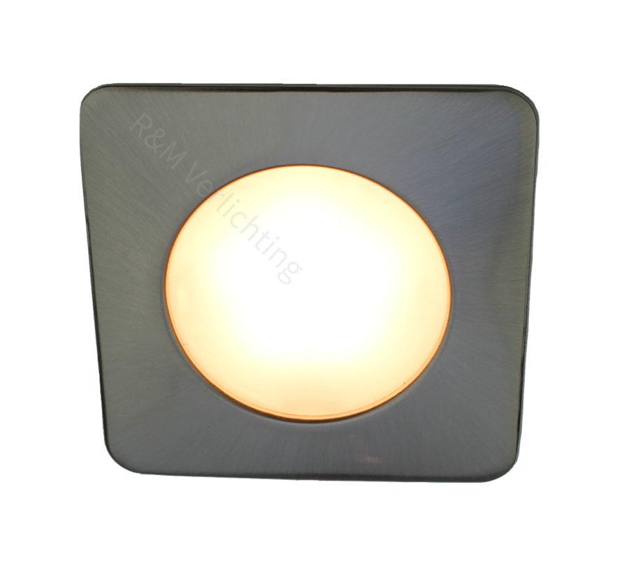 LED meubel inbouwspot vierkant 2.6w 12v DC 2700k warm wit